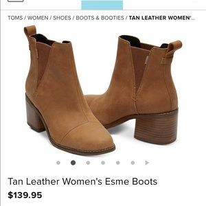 "Toms ""Esme"" Tan Boots with tags"
